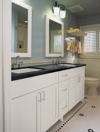 White Bathroom Cabinets Wall Gray Wall Paint White Real Wood Vanity Storage Drawers Mounted