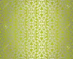 Green Silver Vintage Wallpaper Design ...