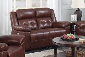 chaim powered recliner loveseat brown