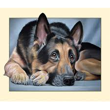 unique gifts diy diamond embroidery 5d german shepherd dog mosaic diamond painting cross sch home