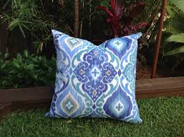 Blue Outdoor Cushions Boho Outdoor Pillow Cover ly Scatter