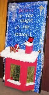 Rudolph saving Santa falling head first into the chimney