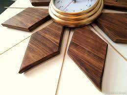 diy mid century starburst clock just like your granny s sawdust