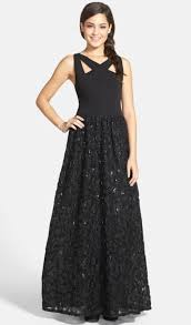Hailey Logan Black By Adrianna Papell Pedal Casual Bridesmaid Mob Dress Size 10 M