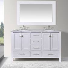 59 inch vanity. Contemporary Vanity 60inch Malibu Pure White Double Sink Bathroom Vanity Cabinet With 59inch  Mirror With 59 Inch E