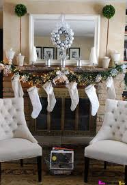 decorated christmas fireplace mantels | Decorating Ideas, : Fancy Mantel  Decoration For Brick Fireplace Design