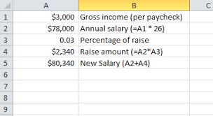salary range calculator using excel to calculate your annual salary with increases the