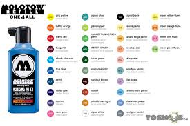 Molotow One4all Color Chart Molotow One4all Refills 180ml Toswos Be