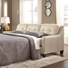 Ashley Furniture Contemporary Galaxy Leather Match Queen