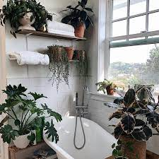 Although dark walls can make a room seem a lot smaller, they can add a stylish flair. 17 Bathroom Plants That Were Styled Perfectly