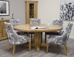 canterbury oak round extending table set