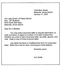 business letter format sample k0rqjctc