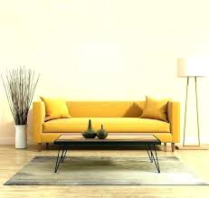 a yellow leather sofa isolated on white background front view modern wooden spoon
