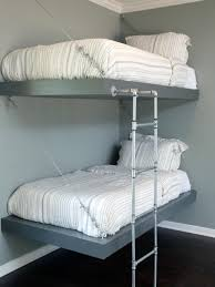 Wall Mounted Bunk Beds  Interior Design Bedroom Ideas