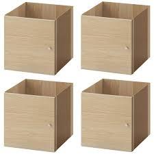 4 Stück Ikea Kallax Einsatz Mit Tür Eicheneff Wlas Für