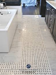 basketweave tile bathroom. Affordable Ensuite Bathroom Marble Mosaic Basketweave Tile On Floor With Espresso Dark Wood Cabinet And Tub Kylie M Edesign Online Decorating T