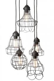 pendant lighting rustic. Wire FiveLight Pendant Light Your Home With Modern Yet Rustic Lighting Item L