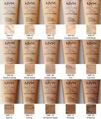Nyx Foundation Color Chart Stay Matte But Not Flat Nyx Enriquecida Com Minerais Oferece