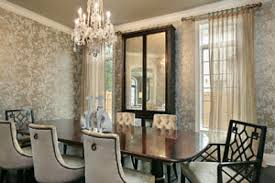 decorating ideas dining room. Captivating Cream Floral Pattern Fabric Chairs Modern Dining Room Decorating Ideas Exclusive Brown Granite Table Tops Fabulous Grey Wall Color Impressive