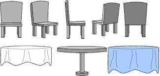 chairs clipart. Unique Chairs Kitchen Table And Chairs With Cloth And Clipart C