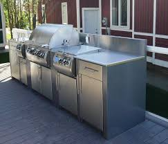 Outdoor Kitchen Stainless Steel Cabinets Glamorous Ideas Ok