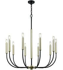 10 light chandelier lighting light inch black and soft gold chandelier ceiling light armstrong 10 light