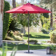 steel offset patio umbrella with detachable netting hayneedle