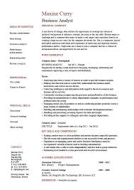 Business Resume Fascinating Business Analyst Resume Templates Samples Business Analyst Resume