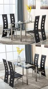 dining sets 107578 5 piece gl dining table set with 4 leather chairs kitchen room furniture it now only 169 9 on ebay dining piece gl
