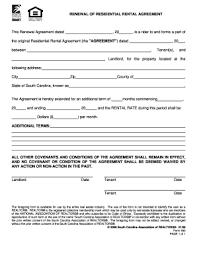 Rental Renewal Form Fill Online Printable Fillable