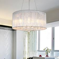 modern fashion fabric shade pendant lights crystal chandelier ceiling lamp crystal pendant lamp living room bedroom white purple pink yellow pendant light
