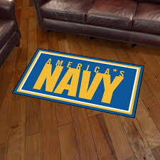 picture of u s navy 3 x5 plush rug