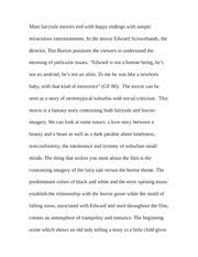 essay on edward scissorhands relationships i first saw edward  3 pages paper on edward scissorhands