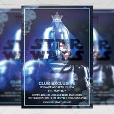 Club Flyers Address Star Wars Night Club A5 Flyer Template