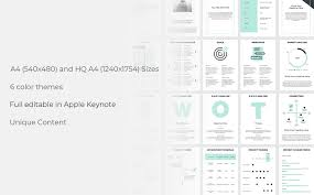 A4 Project Proposal Keynote Template Business Websites