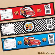 Free Cars Printables Free Printable Disney Cars Lightning Mcqueen Water Bottle Labels