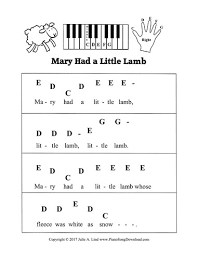 And so the teacher turned it out, but still it lingered near, and waited. Mary Had A Little Lamb Pre Staff Piano Sheet Music For Beginning Piano Lessons