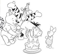 Disney Happy Birthday Coloring Pages Happy Birthday Wishes