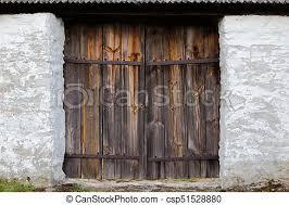 the old wooden door background csp51528880