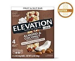 millville elevation almond coconut fruit nut bars 5 6oz