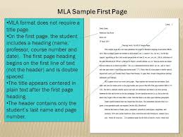 an introduction to mla and apa documentation ppt 13 mla sample first page mla format