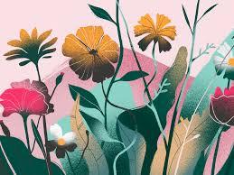 Harmony In Design Flowers Harmony Illustration By Tubik Arts On Dribbble