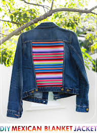 making a plain denim jacket special with some colorful se stripes free tutorial with