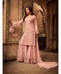 Pakistani Designer Dresses In Toronto Blush Pink Sharara Suit In 2020 Fashion Bollywood Dress