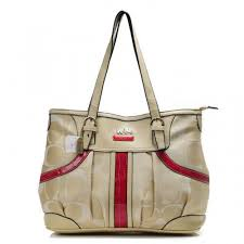 Coach In Monogram Medium Khaki Totes BXR