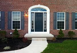 blue door house. Blue Front Door On Red Brick House Pictures