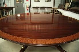 top photo of custom american made 84 inch round mahogany dining 7 foot dining table aragon