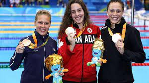 The tokyo paralympics are underway and canada's dominance in the pool has carried over from the olympics to the paralympic games. Aurelie Rivard International Paralympic Committee