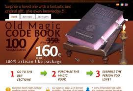 old book magic code book