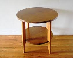 image of modern round side table wood